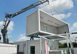 Modular Building On-Site Assembly