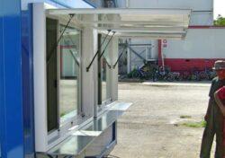 Vordach mobiles Kiosk Kassa
