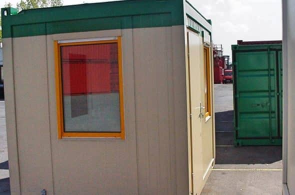 CHV Mietcontainer 10FT Büromodul CHV 150 Fenster