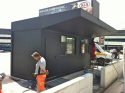 CHV canopies and roof constructions porter cabin Schwechat Airport