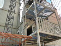 CHV Containeranlage Uno City Stiegen Sthalkonstruktion