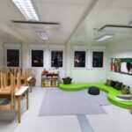 CHV Modulare Raumlösung Containeranlage Klassenzimmer Schule Währing