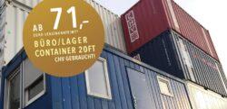 Lagercontainer Finanzierungsaktion 2019
