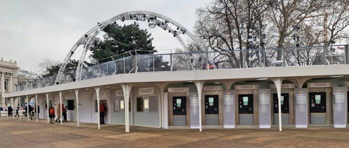 CHV Vordächer und Überdachungen Laufgangüberdachungen Containeranlage Wiener Eistraum