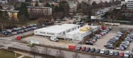 Containeranlage Einkaufszentrum Wien Südstadt