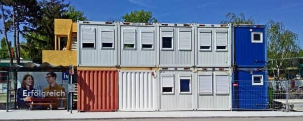 Modulares Baubüro Einkaufszentrum Wien Südstadt