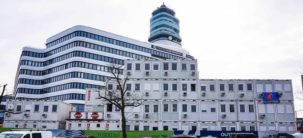 Vierstöckiges Modulares Baubüro Flughafen Wien