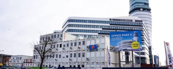 Containeranlage Office Park 4 Baubüro