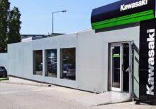 CHV-Containeranlagen-Motorradverkauf-Faber-aussen-kawasaki-eingang