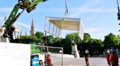Aufbau ORF Glascontainer