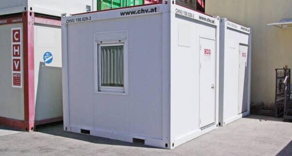 CHV Gebrauchtmarkt 10ft Bürocontainer gebraucht, linke Ausführung