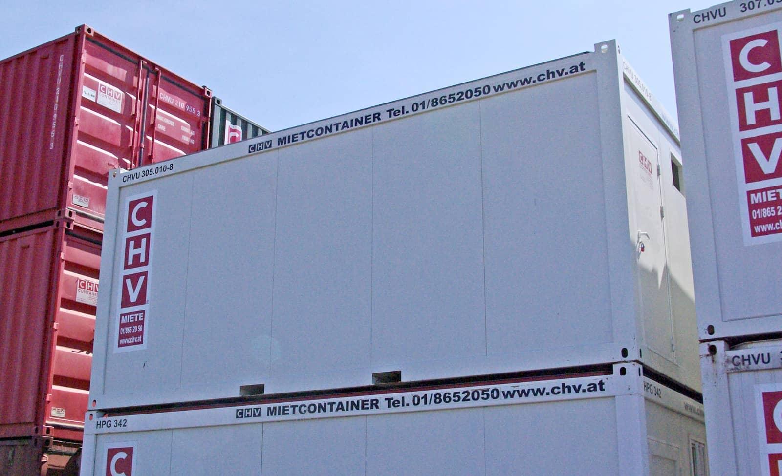 CHV Gebruchtmarkt 20ft Bürocontainer Fenster seitlich gebraucht