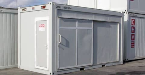 16ft Bürocontainer mit Schiebetüre