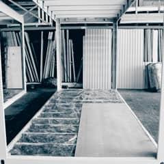 Bürocontainer Dach und Decke