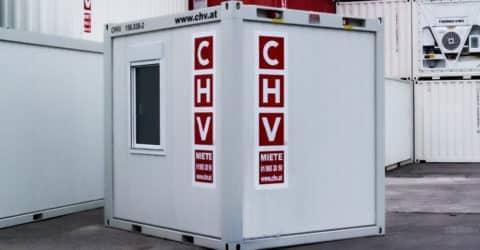 10ft Bürocontainer rechts ausgeführt