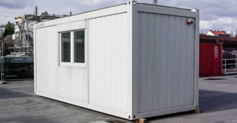20ft Bürocontainer seitliche Fenster