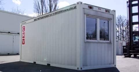 20ft Bürocontainer Fenster stirnseitig