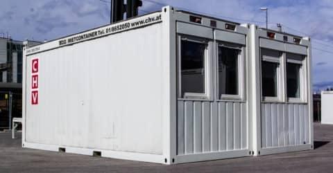 20ft Bürocontainer Doppelanlage gebraucht