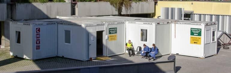 CHV Sanitätscontainer Raumlösungen Triage Station Wien
