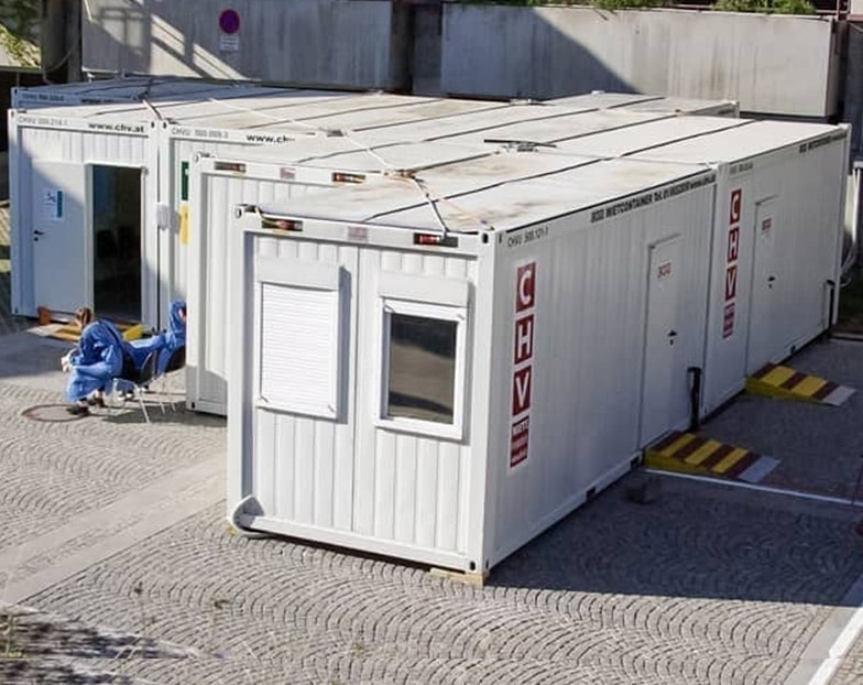 Medical container for use in hospitals