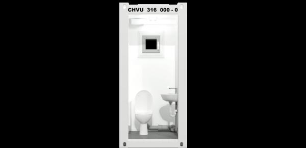 CHV-060WC 5 fuß WC Container 1,5m mobile Toiletten Innen