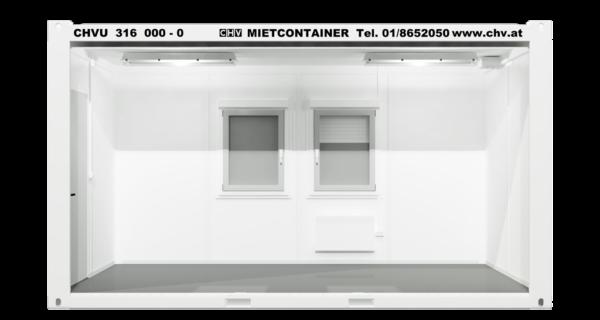 CHV300.48 16ft Bürocontainer seitlich