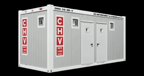 CHV-300WCDH-WC-Container-Damen-Herren-20-fuss-front
