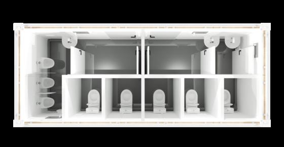 CHV-300WCDH-WC-Container-Damen-Herren-20-fuss-top