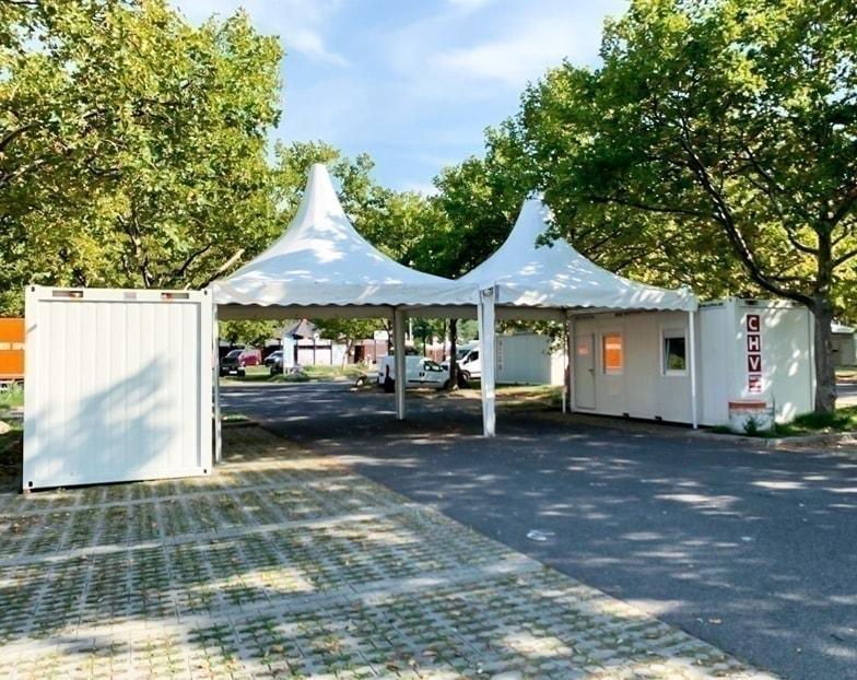 CHV-Container realisiert Coronavirus-Teststraßen in Wien